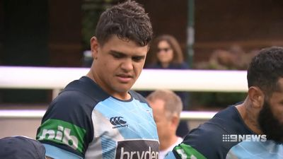 NSW Blues' Latrell Mitchell reveals secret chest injury days out from State of Origin 2