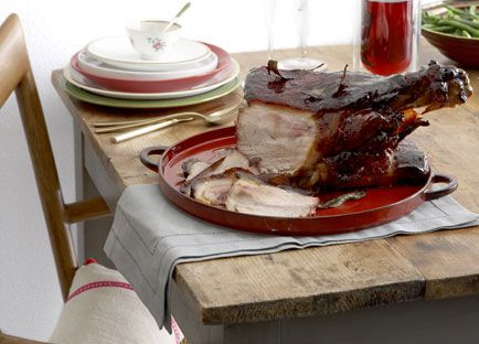 Glazed salt pork