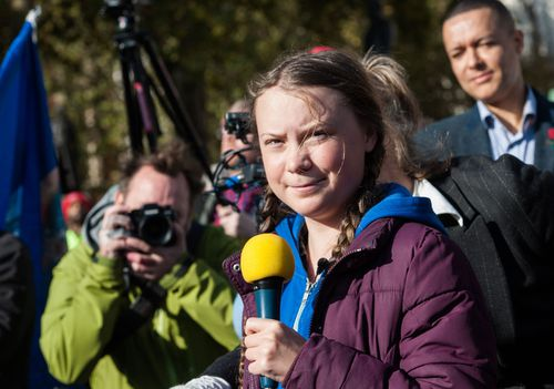 Swedish teenage climate change activist Greta Thunberg.