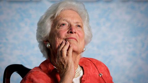 Former First Lady Barbara Bush has died at her home in Houston, Texas. (AAP)