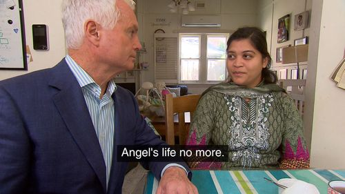 Angel's mother Siniya said Pakistani doctors told her Angel would die.