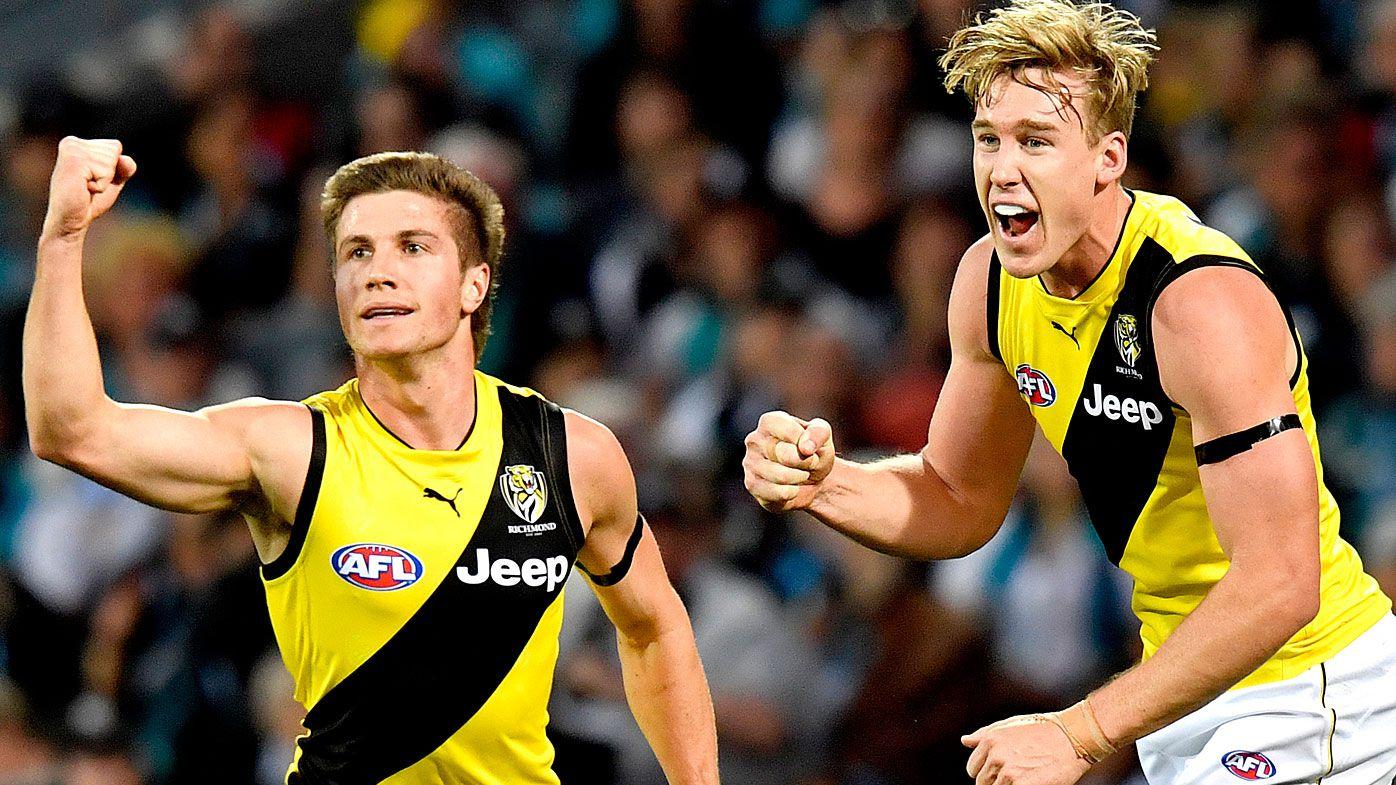 Injury hit Richmond Tigers stun Port Adelaide in AFL thriller