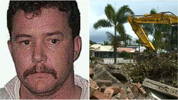 "Police are doing forensic tests to determine if money unearthed by tradies at Runaway Bay is linked to notorious ""postcard bandit"" Brendan Abbott's bank robberies."