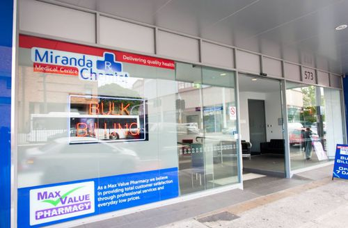 Patients outside Miranda Medical Centre said they were shocked to learn of the arrest. (Miranda Medical Centre)