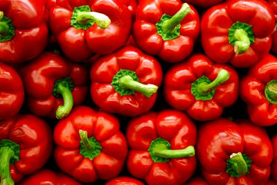 Red capsicum: 4.39g sugar per 100g