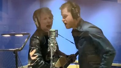 Prince Harry and Bon Jovi at Abbey Road Studios London