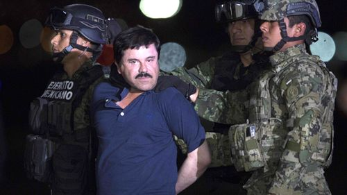 Joaquin Guzman Loera, also known as 'El Chapo' is transported to Maximum Security Prison of El Altiplano in Mexico City, Mexico on January 08, 2016. Guzman Loera, leader of Mexico's Sinaloa drug Cartel, was considered the Mexican most-wanted drug lord.