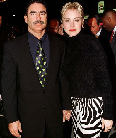 San Francisco Chronicle executive director Phil Bronstein and actress Sharon Stone