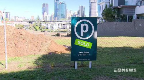 The purchase of the land set a record for the sale of a vacant block. Picture: 9NEWS