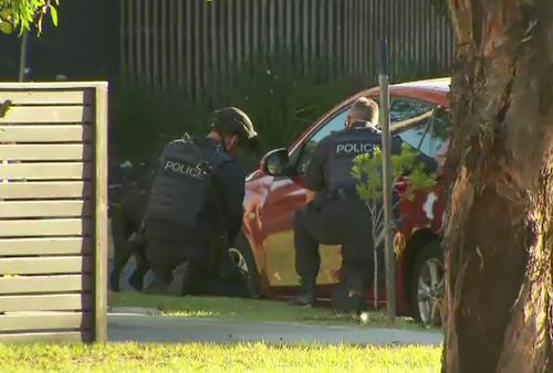 The woman was found suffering serious arm injuries. (9NEWS)