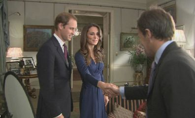 Bradby meeting with the William and Kate at their engagement announcement.
