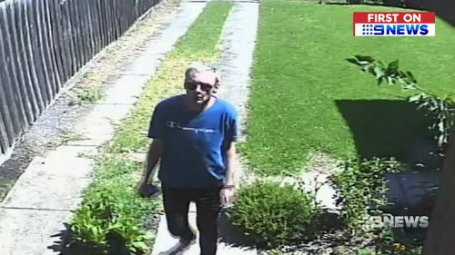 The robbery unfolded as temperatures soared in Melbourne last Friday.