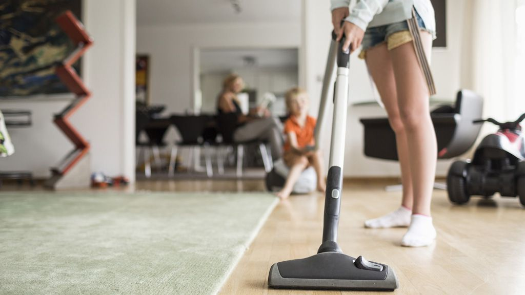 Vacuuming shared areas