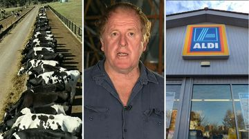 Australia milk prices increase supermarkets Coles Aldi Farmer Joe Bradley
