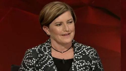 Tony Abbott's sister Christine Forster on ABC TV's Q and A. (ABC)