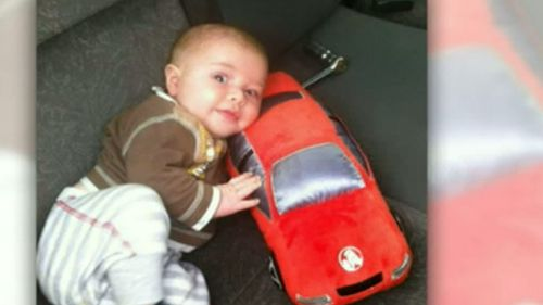 Baby Zayden Veal-Whitting was sleeping when Harley Hicks bludgeoned him to death with a copper wire baton. (9NEWS)