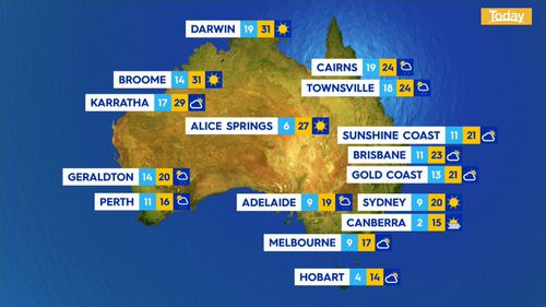Windy weather across the country, with strong warnings for Victoria