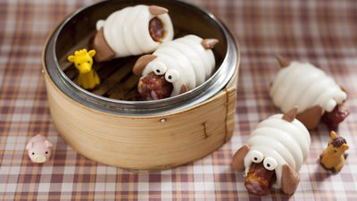 Doggy sausage rolls, Yum Cha, Central or Tsim Tsui