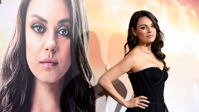 She may have left fiance Ashton Kutcher and their four-month-old daughter Wyatt at home, but Mila Kunis was every bit the glowing new mum/bride-to-be at the L.A. premiere of her new movie <i>Jupiter Ascending</i>.<br/><br/>Despite Ashton's absence, there was no shortage of handsome men by Mila's side. Her co-stars Channing Tatum and Eddie Redmayne also turned up for the sci-fi film's debut...A girl couldn't ask for better accessories!<br/><br/>Click through for more premiere pics.<br/><br/>Source: Getty