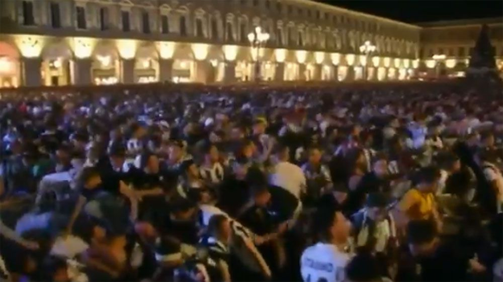 Juventus fans in near-stampede in Turin after bomb scare during public viewing of Champions league final