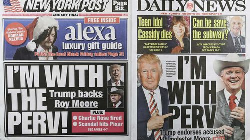The New York Post and the New York Daily News. (AAP)