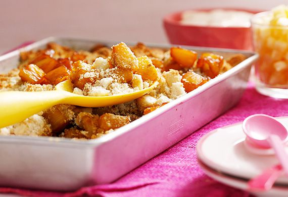 Pineapple coconut crumble