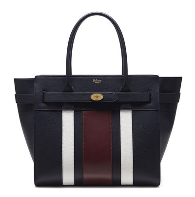 "<p><a href=""http://www.mulberry.com/au/shop/women/bags/shoulder-bags/zipped-bayswater-midnight-white-burgundy-small-classic-grain"" target=""_blank"">Mulberry Zipped Bayswater Bag, $3000.</a></p> <p> </p>"