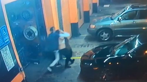 The woman was snatched from an auto shop in Miami, Florida.