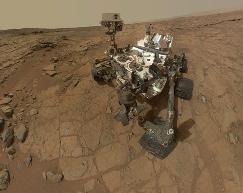 This photo released by NASA shows a self-portrait taken by the NASA rover Curiosity in Gale Crater on Mars. Picture: AAP