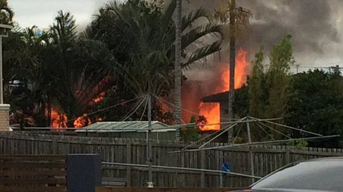 Search underway after eastern Brisbane house fire