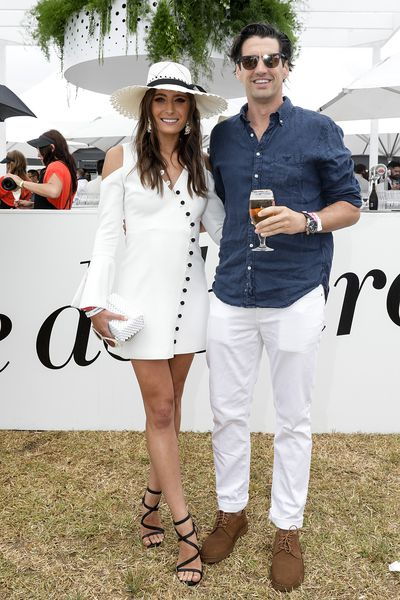 Model Rebecca Harding and Andy Lee at  the 2018 Portsea Polo