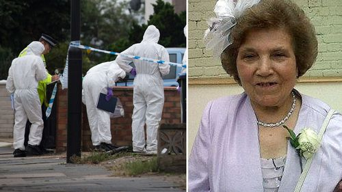 Palmira Silva, 82, was attacked and reportedly beheaded in the front yard of her house in Edmonton, north London.