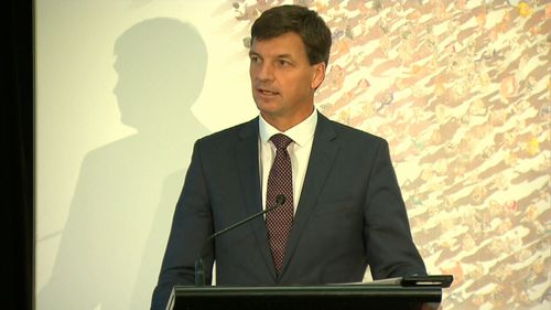 Energy Minister Angus Taylor has spoken to small business owners in Sydney about his government's plan to bring down energy prices.