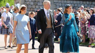 Princess Beatrice and Princess Eugenie at the royal wedding, May 2018