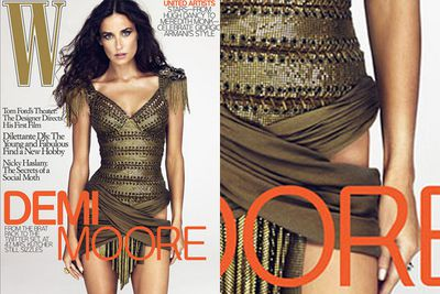Demi Moore lost her left hip on the cover of <i>W</i> magazine in 2009.