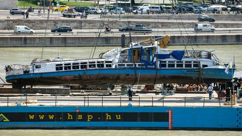 Four more bodies recovered from Danube River as sunken tour boat is retrieved