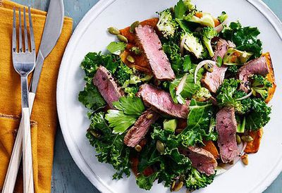 "Recipe: <a href=""http://kitchen.nine.com.au/2016/05/05/10/03/spiced-beef-pumpkin-and-kale-salad"" target=""_top"">Spiced beef, pumpkin and kale salad</a>"