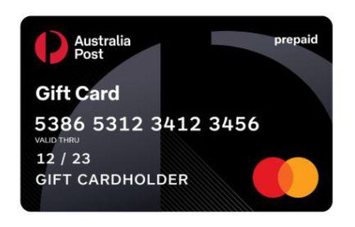 Australia Post Mastercard gift card