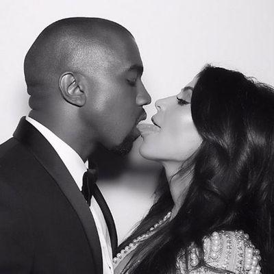 <p>Kanye West and Kim Kardashian West</p>