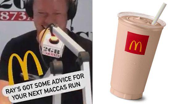 Ben Fordham / McDonald's chocolate thickshake