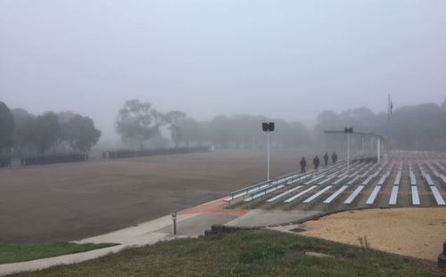 The NSW police academy in Goulburn has been experiencing some frosty mornings. Image: Facebook