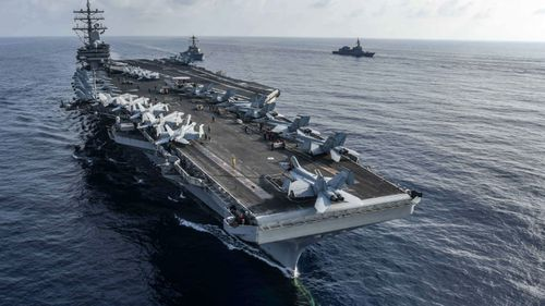 US aircraft carriers in the Pacific are potential targets for the Chinese DF-26 missile.