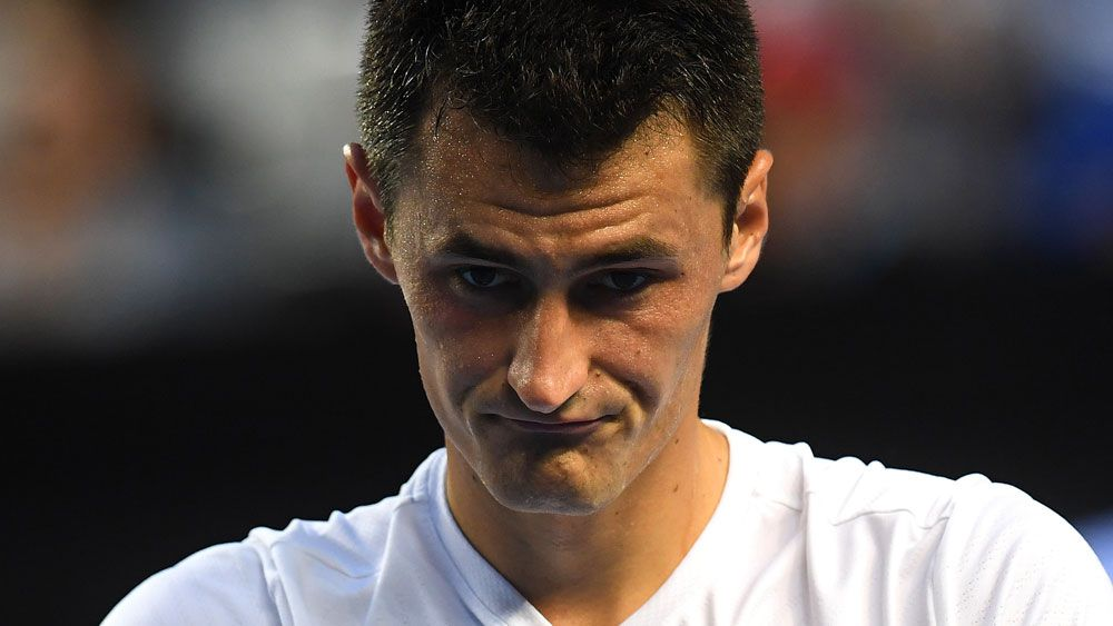 Bernard Tomic argued it was too hot to play. (AAP)