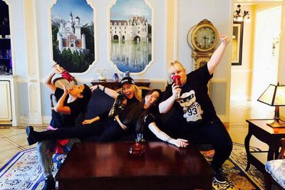 "@RebelWilson: ""Party in a USA #DisneyDreamSuite."""