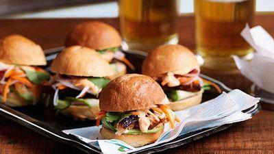 "Recipe:<a href=""http://kitchen.nine.com.au/2016/05/13/12/51/ms-gs-mini-pork-banh-mi"" target=""_top"">Ms G's mini pork banh mi</a>"