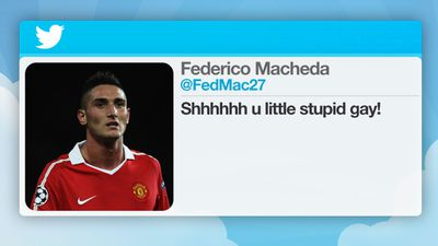 Manchester United footballer Federico Macheda was fined in 2012 after responding to a Twitter follower with a homophobic insult.