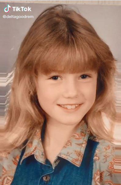 Delta Goodrem as a young girl.