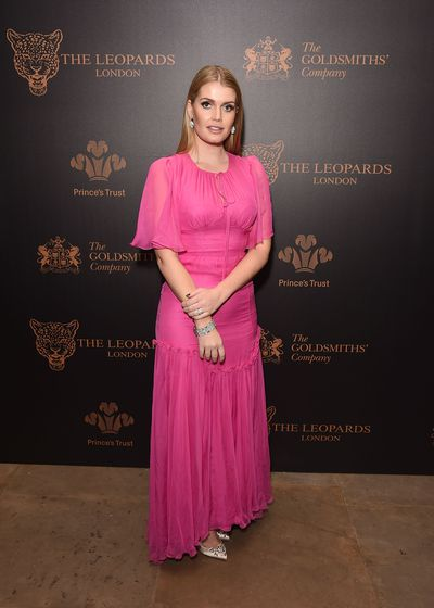 Kitty Spencer in Dolce & Gabbana at the Leopard Awards in London, November, 2017