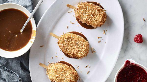 Anna Polyviou's coconut fried ice-cream