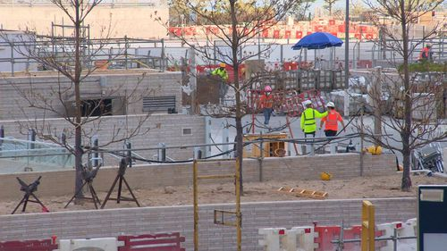 It is a multi-billion dollar project and will open in September. Image: 9News